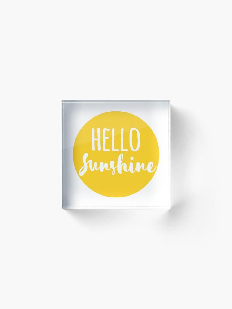 Vista alternativa de Bloque acrílico Hola Luz de sol