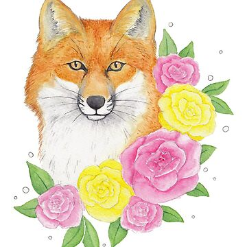 Foxy Flowers by sillybadger