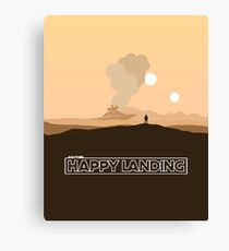 """Another Happy Landing"" Star Wars Prequel Memes Canvas Print"