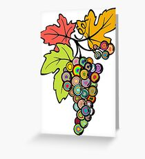 Grapes of Many Colors Greeting Card