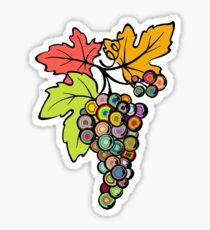 Grapes of Many Colors Sticker