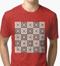 Tulips pattern Tri-blend T-Shirt
