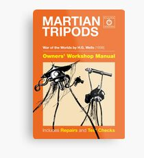 Owners Manual - HG Wells Martian Tripod Metal Print