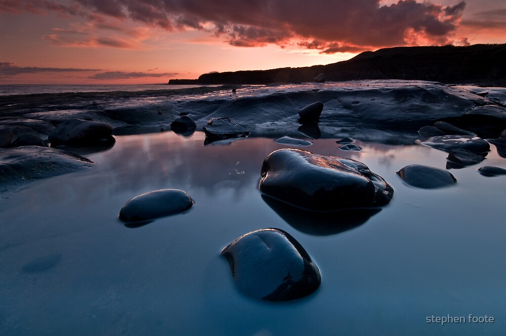 Three Rocks in a Pool by stephen foote