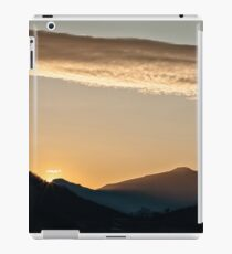 Sunset in the mountain landscape iPad Case/Skin