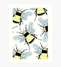Spring Bees Art Print