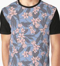 Sakura Branch Pattern - Rose Quartz + Serenity Graphic T-Shirt
