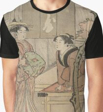 Cherry blossom viewing - Japanese pre 1915 Woodblock Print Graphic T-Shirt