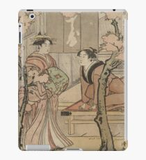 Cherry blossom viewing - Japanese pre 1915 Woodblock Print iPad Case/Skin