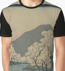 Grove of Cherry Trees - Japanese pre 1915 Woodblock Print Graphic T-Shirt