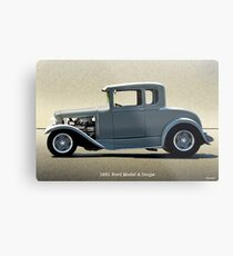 1931 Ford Model A Coupe Metal Print