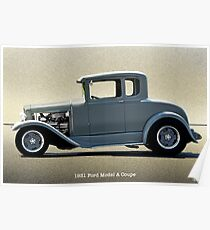 1931 Ford Model A Coupe Poster