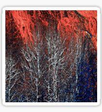 White Trees & Red Rocks at Roxborough  by Lena Owens Sticker
