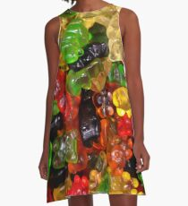 cute colorful sweet candy gummy bear  A-Line Dress