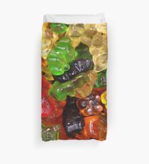 cute colorful sweet candy gummy bear  Duvet Cover