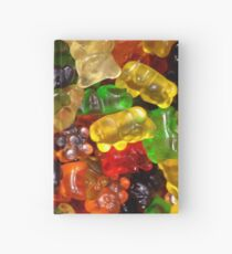 cute colorful sweet candy gummy bear  Hardcover Journal