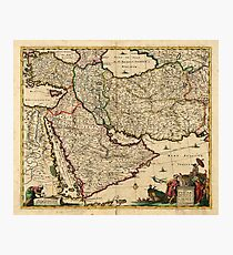 Map of the Middle East (1666) Photographic Print