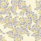 Earthtone Triangle Pyramids by Dina June Toomey