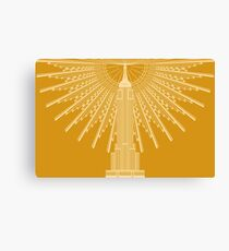 Empire State Building in Gold Canvas Print