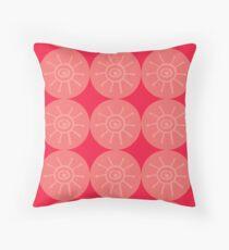 coral sun Throw Pillow