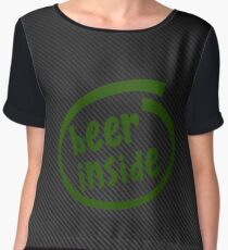 Beer inside green carbon Chiffon Top