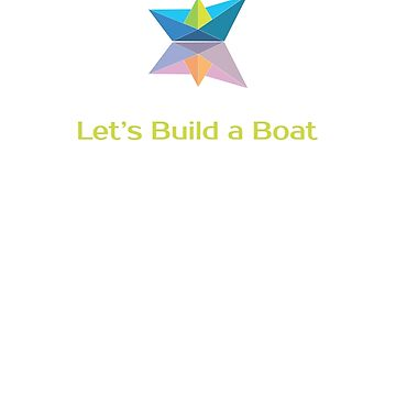 Let's Build a Boat coloured logo by lopel
