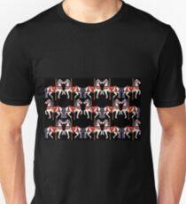Prancing Carouselle ponies-black Unisex T-Shirt