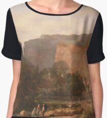 A View Of Cheddar Gorge by George Vincent Women's Chiffon Top
