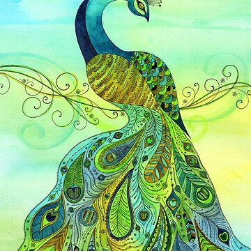 Peacock by SarahTravisArt