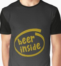 beer inside carbon yellow Graphic T-Shirt