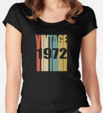 Vintage 1972 Birthday Retro Design Women's Fitted Scoop T-Shirt