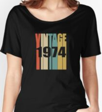 Vintage 1974 Birthday Retro Design Women's Relaxed Fit T-Shirt