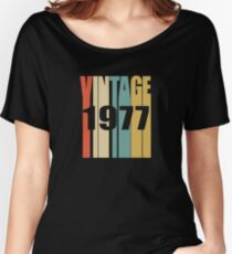 Vintage 1977 Birthday Retro Design Women's Relaxed Fit T-Shirt