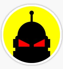 Evil Robot Overlord Sticker