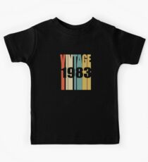Vintage 1983 Birthday Retro Design Kids Clothes
