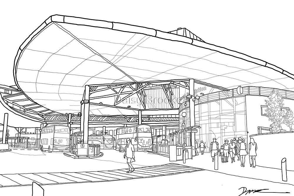 Bus station (outline) by Daisy Brooke