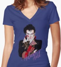 Adam Ant Women's Fitted V-Neck T-Shirt