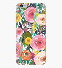 Vinilo o funda para iPhone Bonito jardín de acuarela floral