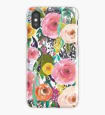 Pretty Watercolor Garden Floral iPhone Case/Skin