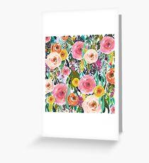 Pretty Watercolor Garden Floral Greeting Card