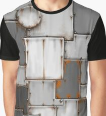 rusty steel patchwork Graphic T-Shirt