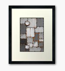 rusty steel patchwork Framed Print
