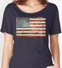 Painted Stars And Stripes Women's Relaxed Fit T-Shirt