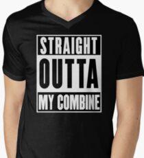 Combine Harvester-Farmer T-Shirt Men's V-Neck T-Shirt