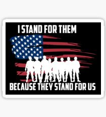 Stand for the Troops Sticker