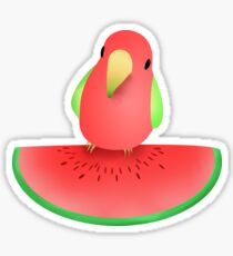 Watermelon bird Sticker