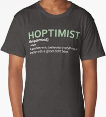 Hoptimist Design for Craft Beer Lovers Long T-Shirt