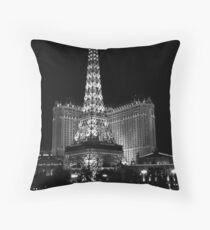 Eiffel Tower at Night, Las Vegas Throw Pillow