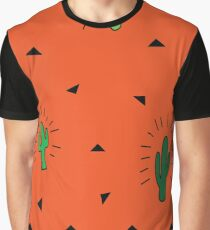 Orange Cactus Fiesta Graphic T-Shirt