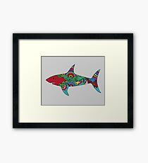 Henna Shark Framed Print